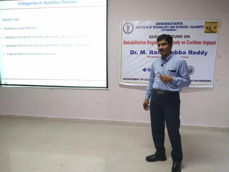 Guest Lecture On Rehabilitation Engineering- Study on Cochlear Implant